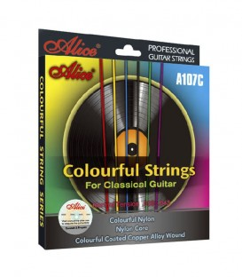 JUEGO CUERDAS ALLICE COLOURFUL STRINGS A107C-N