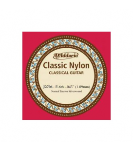 6ª CUERDA DADDARIO CLASSIC NYLON TENSION NORMAL J2706