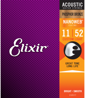JGO ACUST. ELIXIR 16027 NANOWEB 92/8 PHOSPHOR BZ. CUSTOM LIGHT 11-52